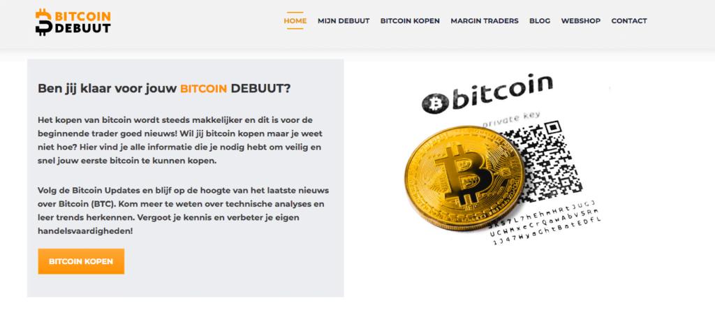Website Bitcoin Debuut