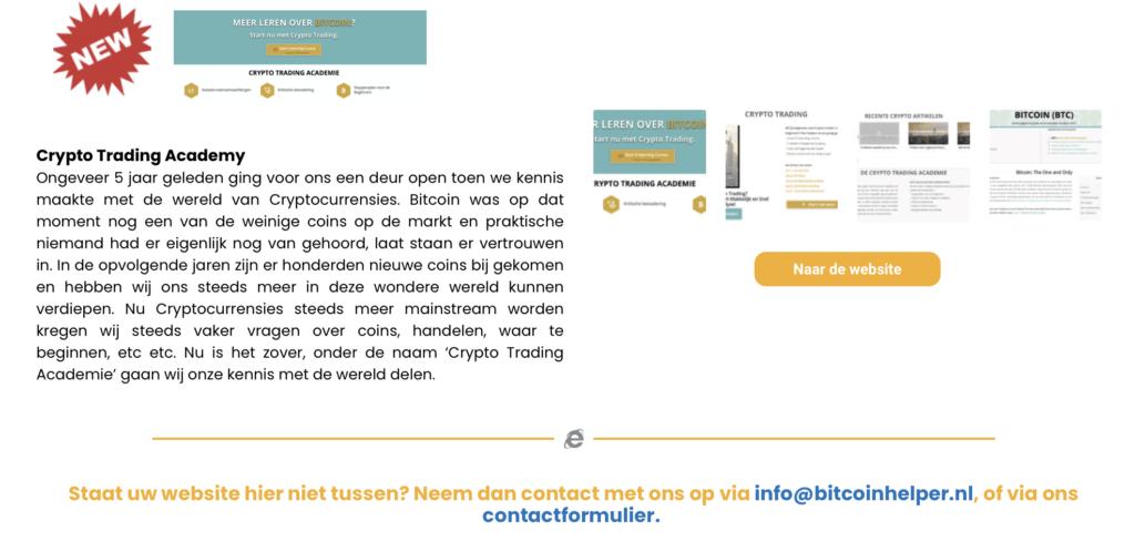 Nederlandse crypotocurrency websites