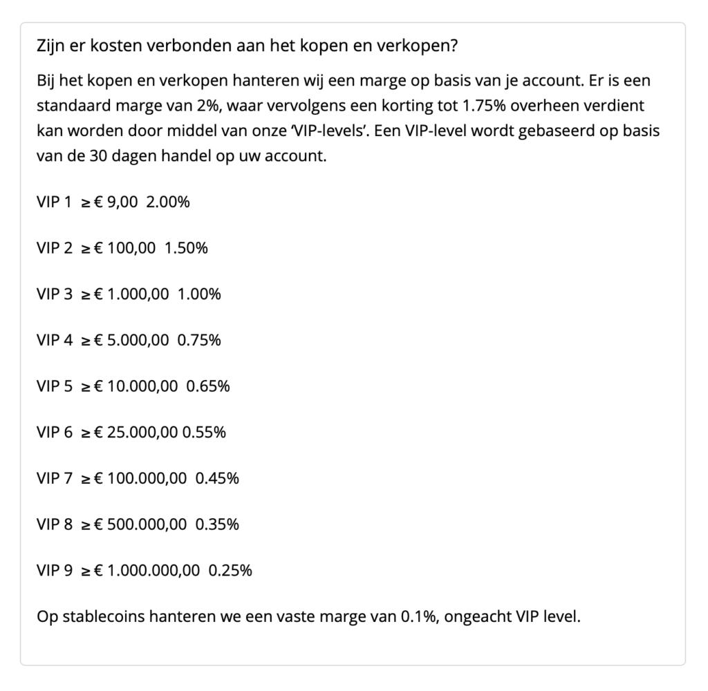 transactiekosten Bitcoinmeester