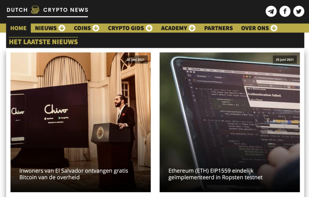 Dutchcryptonews-website